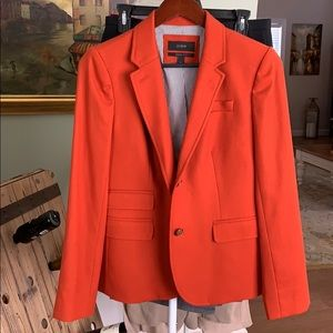 J Crew orange Schoolboy blazer jacket, Sz 6